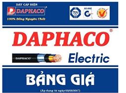 BẢNG GIÁ DÂY CÁP ĐIỆN DAPHACO